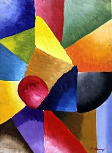 Composition III, 1913 - Oil on Paper - Robert Delaunay