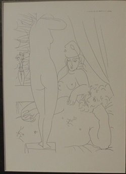 Sculptor model wearing mask - Lithograph - By Picasso