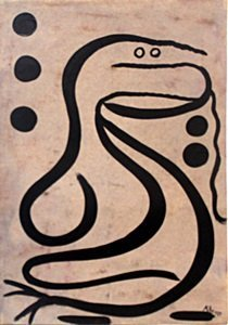 The Snake - Oil Painting on Paper - Paul Klee