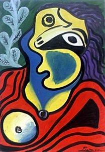 Le Modele 1967' - Oil on Paper - Pablo Picasso