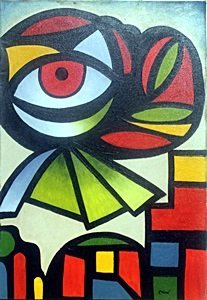 El Ojo 1960' - Oil Painting on Canvas by Joan Miro