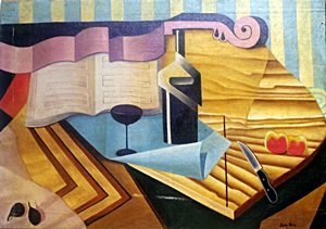 Still Life With Violin - Oil on Canvas - Juan Gris