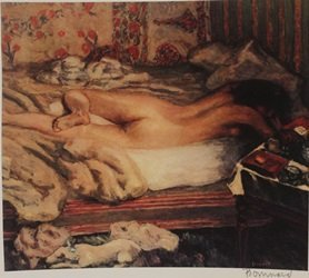 Nude Lying in bed - Signed Lithograph - By Bonnard