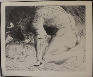 Minotaur's Embrace - Lithograph  - By Picasso