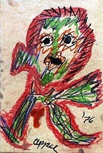 The Boy - Pastel Drawing on Paper - Karel Appel