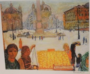 The Plaza  - Signed Lithograph - By Bonnard