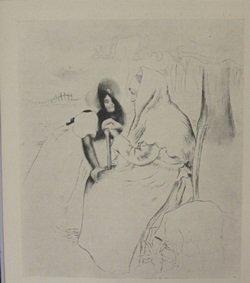 L'aieule Lithograph - Unkown artist