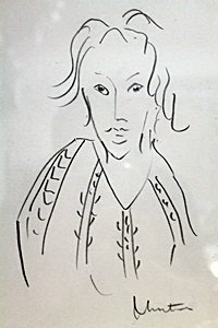 Pencil Drawing on Paper - Signed H.Matisse