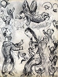 Graphite Drawing on Paper - Signed Marc Chagall