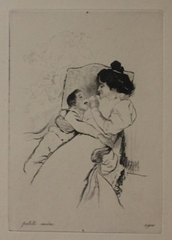 Petite Mere - lithograph  - By Unknown Arist