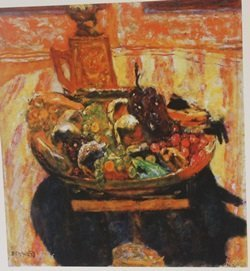Fruit baseket: Grapes & bananas  - Lithograph - Bonnard