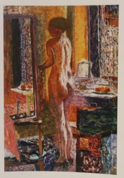 The toilette  - lithograph - by Bonnard