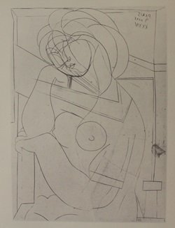 Seated Nude - Lithograph - By Picasso