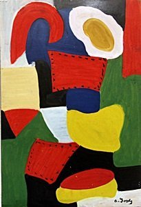The Garden, 1915 - Oil on Paper - Arshile Gorky