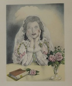 Weeping Bride - Lithograph - by Legrand