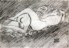 Untitled - Graphite Drawing - Gustav Klimt