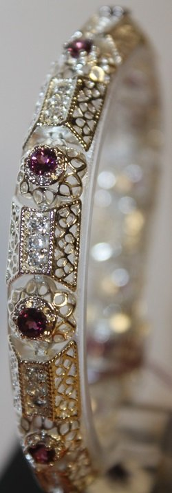 Fancy Amethyst Bracelet
