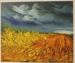 The harvest 1945 - litghograph - By Planche