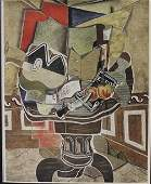 Dining table- Lithograph - by Braque