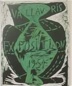 vallavris expo 1954 litho - picasso