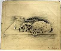 Two Dogs - John Singer Sargent