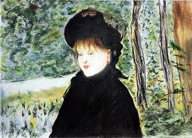 Ms Magdala 1880' - Pastel Drawing - Edouard Manet