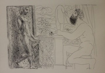 Sculptor by Window Lithograph - Picasso