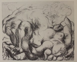 Embrace - Lithograph - By picasso