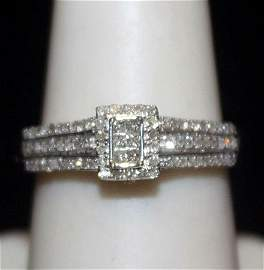 Lady's Fancy Silver Ring with Diamods (189I)