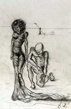 The Lovers - Drawing On Paper - Salvador Dali
