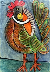 The Rooster - Pastel Drawing - Pablo Picasso