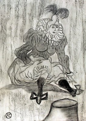 Woman In The Circus 90' - Drawing - Toulouse Lautrec