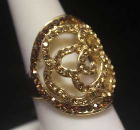 Exquisite 14kt Gold Over Silver Citrine & Golden
