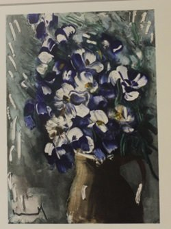 Delphiniums - Lithograph - by Cleland