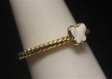 Lavish 14kt Gold over Silver Butterfly Mother of Pearl