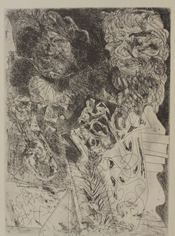 Head of Rempirmadt - Lithograph - by picasso