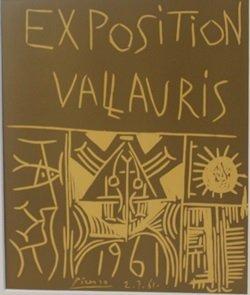 1961 Vallavris expo Lithograph - picasso