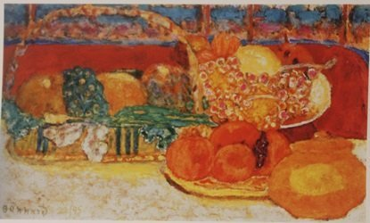 Still life with fruit - Lithograph - By Bonnard