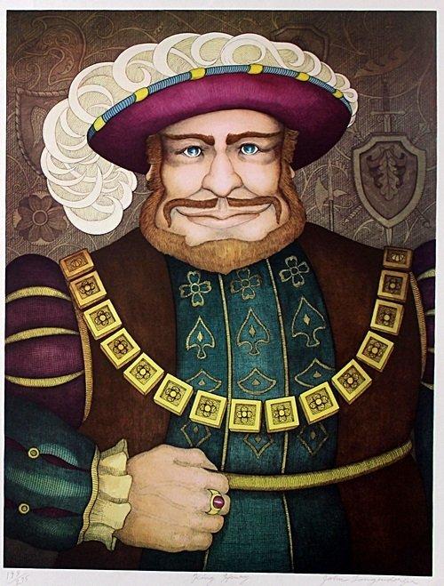 "Lithograph ""King Henry"" after John Longendorfer"