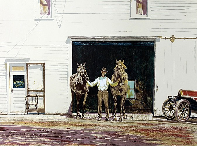 Hand Signed Lithograph after William Nelson