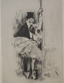 Petite Marcheuse - Lithograph - by legrand