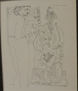 Model and seated Sculpture - By Picasso