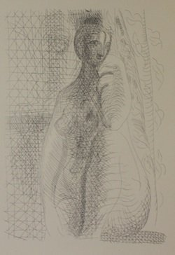 Seated Nude 1931 Lithograph - Picasso