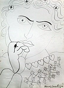 Madame - Drawing on Paper - H. Matisse II
