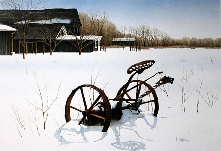 "Lithograph ""Snow Shadows"" after Helen Rundell"