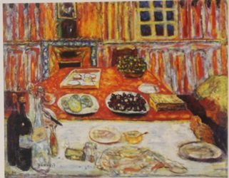 The red Table - Lithograph - By Bonnard