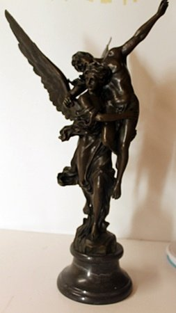 Bronze Sculpture on a Marble Base - Signed Mercie