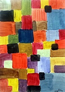 Composition I - Oil Painting on Paper - Paul Klee