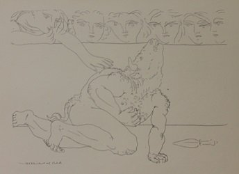 Dying Minotaur Lithograph- Picasso