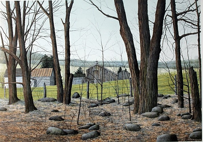 """Lithograph """"Wooded Stead"""" after Helen Rundell"""